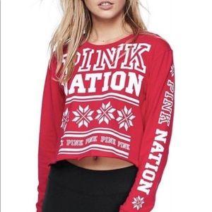 NWT XS PINK NATION HOLIDAY CHRISTMAS SHIRT